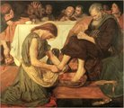 Christ Washing Peter's Feet by Ford Maddox Brown, 1852