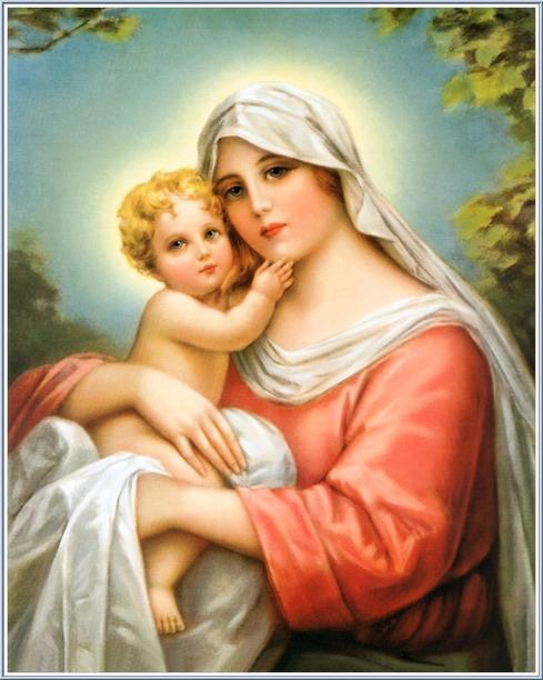 images of jesus christ with mary. Mary and Little Baby Jesus
