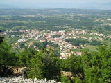 A view from top of the Krizevac at Medjugorje