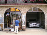 Medjugorje souvenir shop (The Mercedes is not for sale)