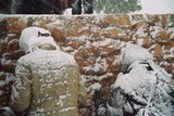 Snow storm on the Krizevac, 2005