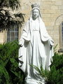 Statue of Our Lady at the garden of monastery of Siroki Brijeg